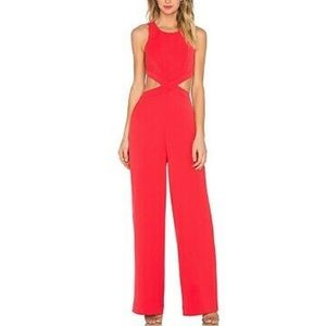"BCBG red jumpsuit ""EMJAY"" XXS new with tags"
